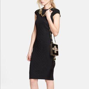Tory Burch Black Body Con Kiersten Dress